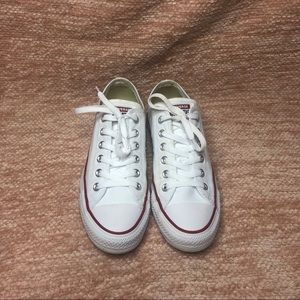 classic white low top converse